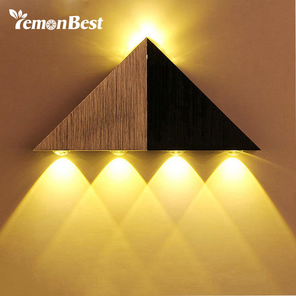 LemonBest Modern Home 5W LED Wall Light Aluminum Decoration Lights Lamp AC 90-265V Warm/ Cold White for Bedroom Living Bathroom