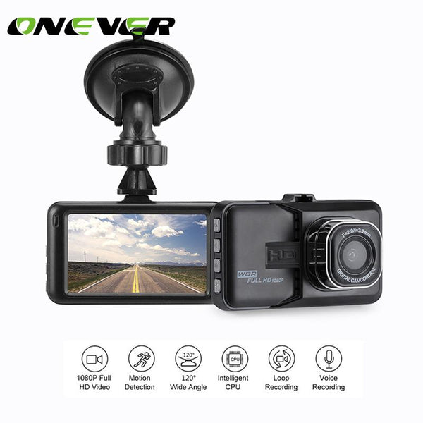 Onever 1080P Mini 3 inch Car DVR Camera 360 Rotation DashCam DVR hidden Video Recorder Support Motion Detection/G-sensor