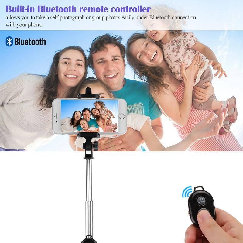 FORNORM Mini Foldable Selfie Stick Bluetooth Selfie Stick With Tripod Bluetooth Shutter Remote Controller For iPhone Android