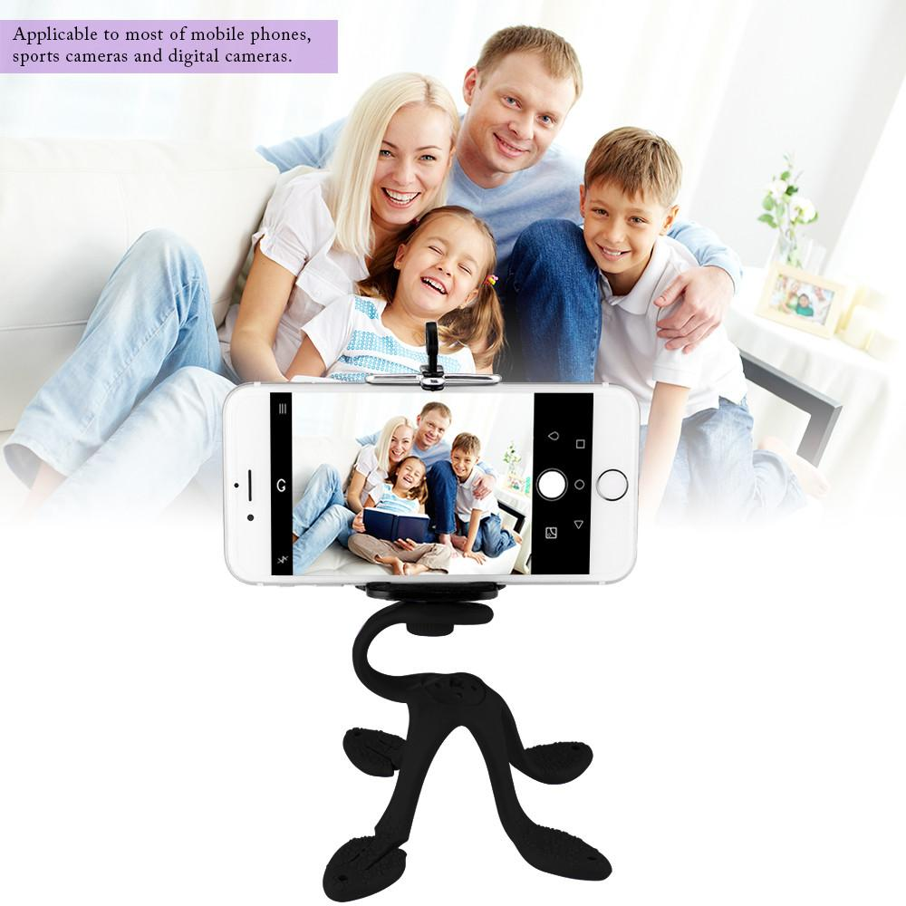 Powstro Phone Holder Mini Tripod Mount Holder Octopus Shape Portable Flexible Stand For iPhone HTC Xiaomi Moible Holder