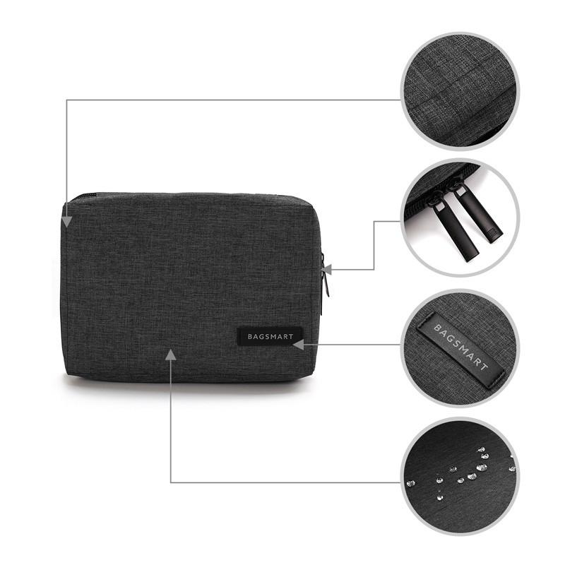 BAGSMART Electronic Accessories Packing Organizers for Earphone USB SD Card Charger Data Cable Travel Bag Pack Suitcase Case