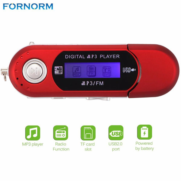 Fornorm New Design Mini LCD Display 32G Digital USB Stick MP3 Music Player Support FM Radio