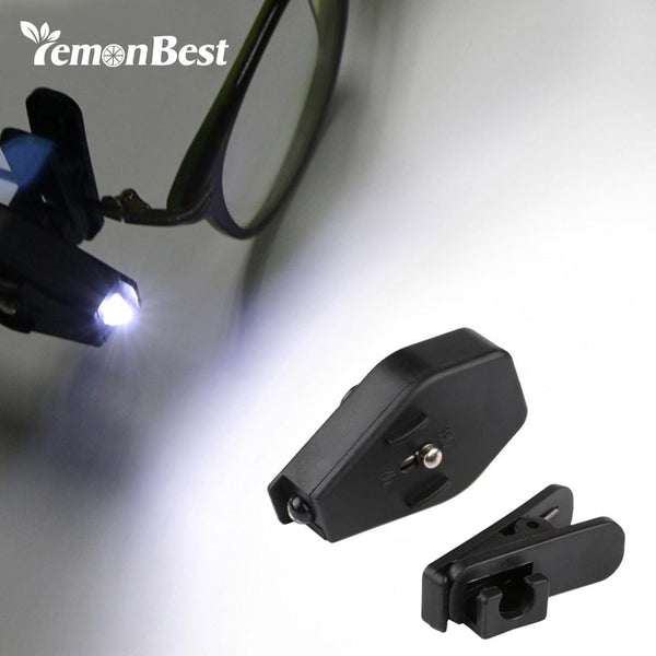 LemonBest Flexible Book Reading Lights Night Light For Eyeglass and Tools Mini LED Eyeglass Clip On Universal Portable