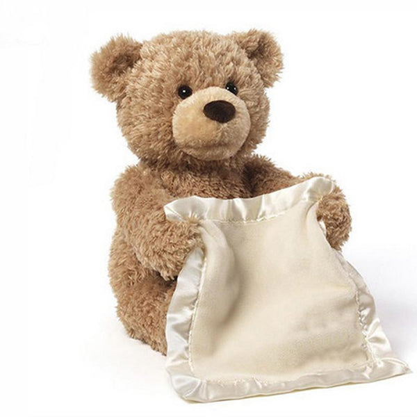 Peek a Boo Teddy Bear Play Hide And Seek bear Lovely Cartoon Stuffed Bear Cute soft Music Plush Toy