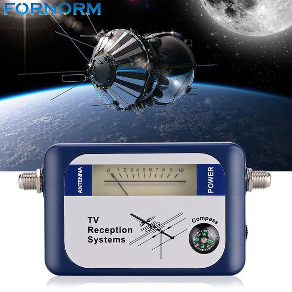FORNORM DVB-T Locator Digital Signal Finder TV Receiver with Compass Antenna Pointer Intensity Meter Antenna Via Satellite