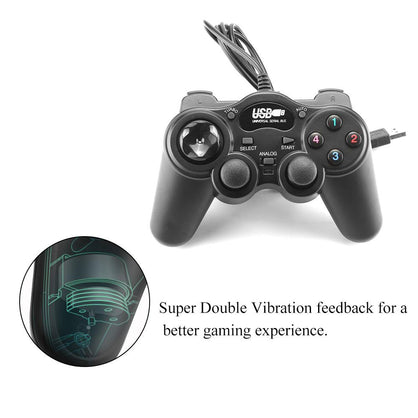 FORNORM USB 2.0 Wired Gamepad PC controller Joystick Joypad Game Controller for Laptop Computer for PC Win7/8/10/XP/Vista