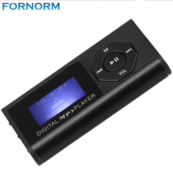 Fornorm Top Sale New MP3 Player Support 16GB Micro SD TF Card USB Clip Mini LED Portable Stylish Design Sport Compact