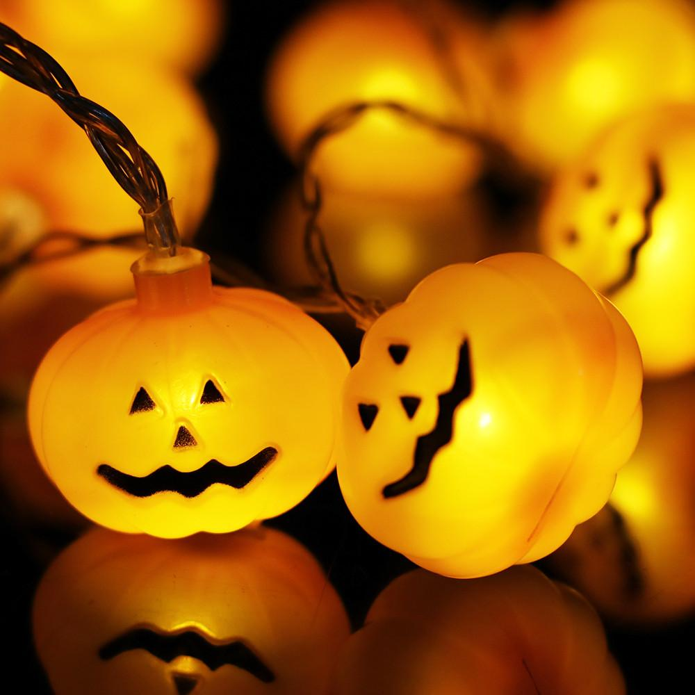Hot Sale Halloween 10LED Pumpkin Shape String Light Decoration
