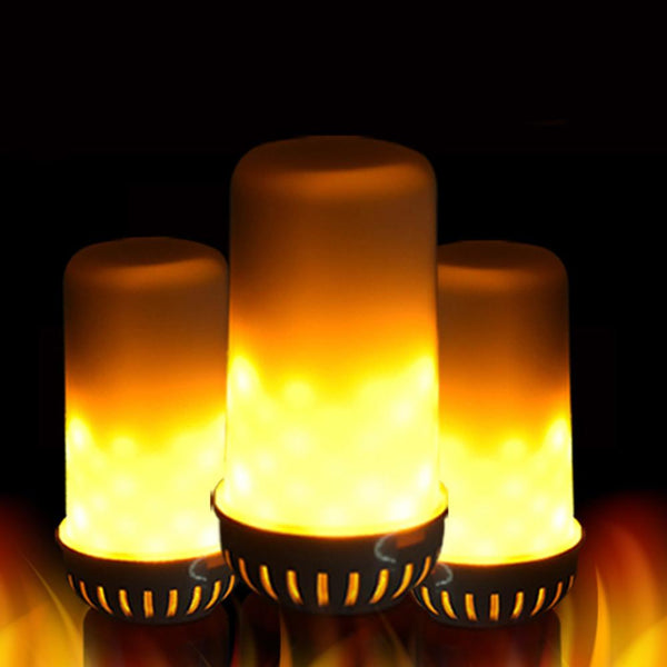 LED Flame Fire Light Effect Simulated Nature Corn Bulbs E27 Decoration Lamp