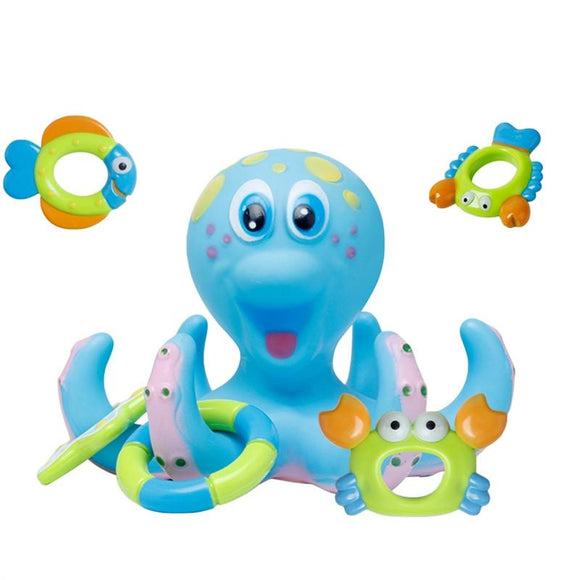 Baby Bath Toy Kids' Octopus Play Plastic Multicolor Wash Toys Water Shower Gift -  - Drako Store