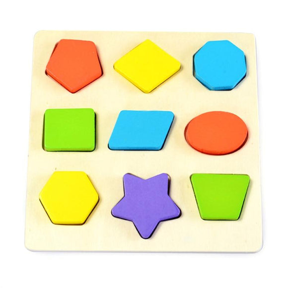 Wooden Preschool Montessori Early Educational Toys Intellectual Geometry Toys Set -  - Drako Store