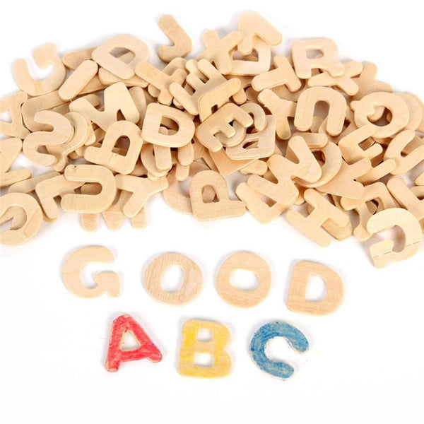 Set of Wooden Letter DIY Wooden Alphabet