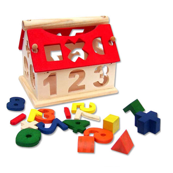 Numbers & Arithmetic Signs DIY Wooden Building Blocks Educational Toys for Kids