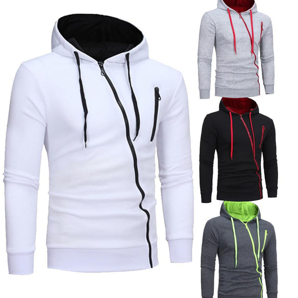 Mens' Long Sleeve Hoodie Hooded Sweatshirt Tops Jacket Coat Outwear -  - Drako Store