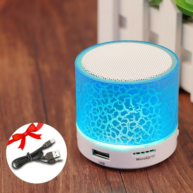 GETIHU Portable Mini Bluetooth Speakers Wireless Hands Free LED Speaker With TF USB FM Sound Music For Mobile Phone For iPhone 6