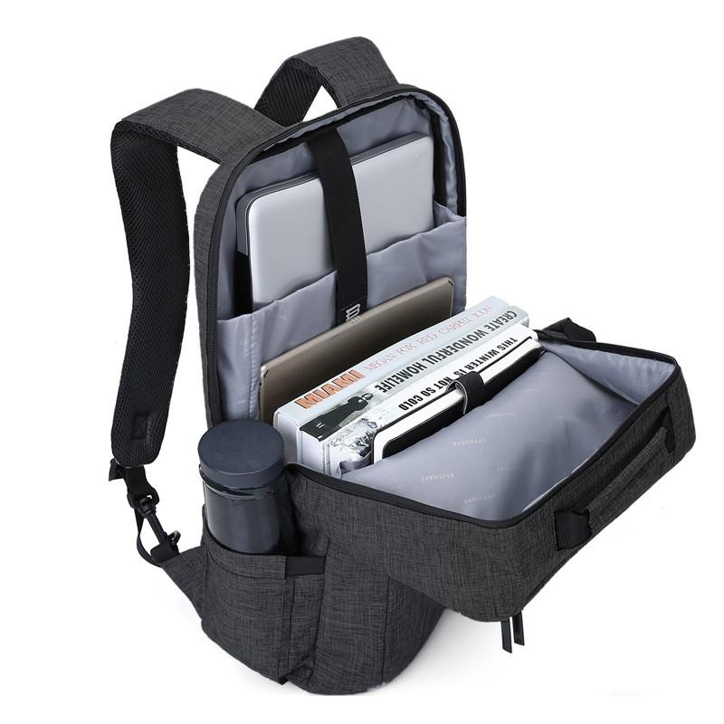 Unisex 15.6 Laptop Backpack Convertible Briefcase 2-in-1 Business Travel Luggage Carrier