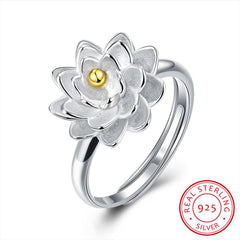 925 Sterling Silver Ring Split flower ring jewelry wholesale jewelry wholesale website manufacturers selling