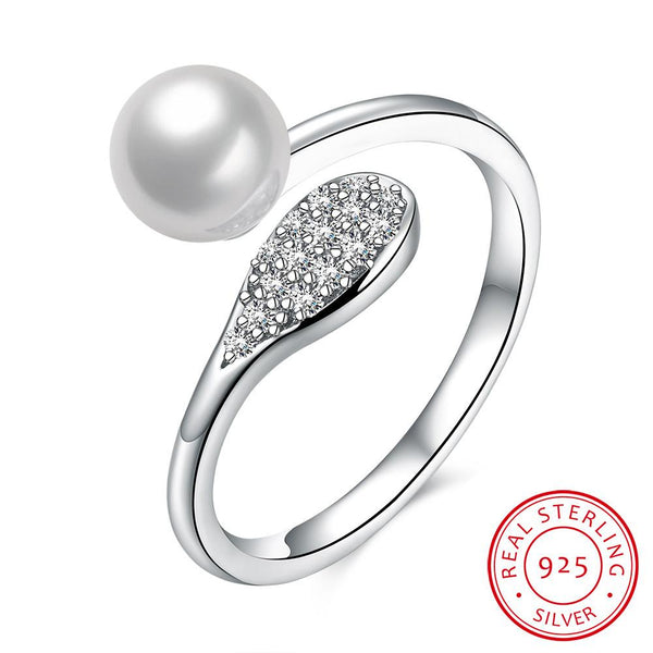 925 Sterling Silver Ring Pearl ring jewelry wholesale jewelry wholesale