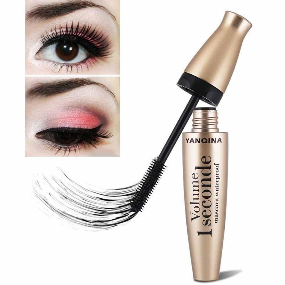 3D Fiber Mascara Long Black Lash Eyelash Extension Waterproof Eye Makeup Tool