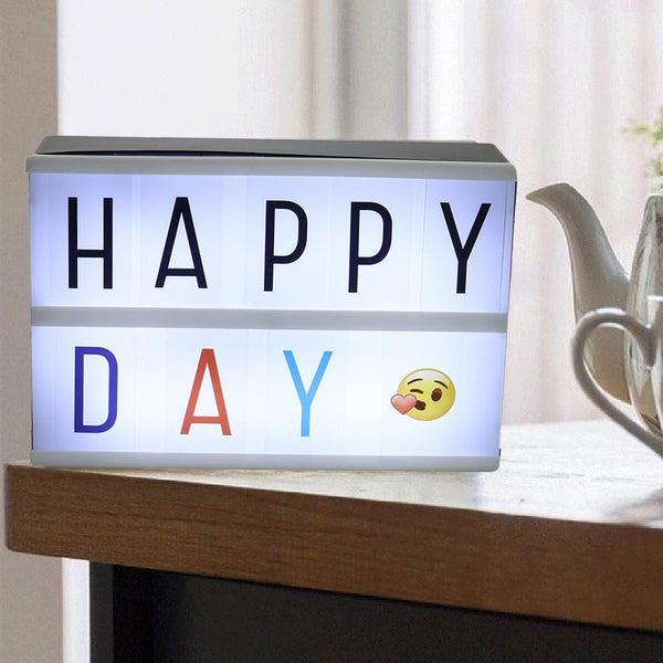 Colour Emoji Letters FOR A4 A5 Cinematic Light Up Sign Cinema Lightbox