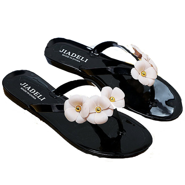 Summer female Korean version of the word drag sand beach flat sandals fashion