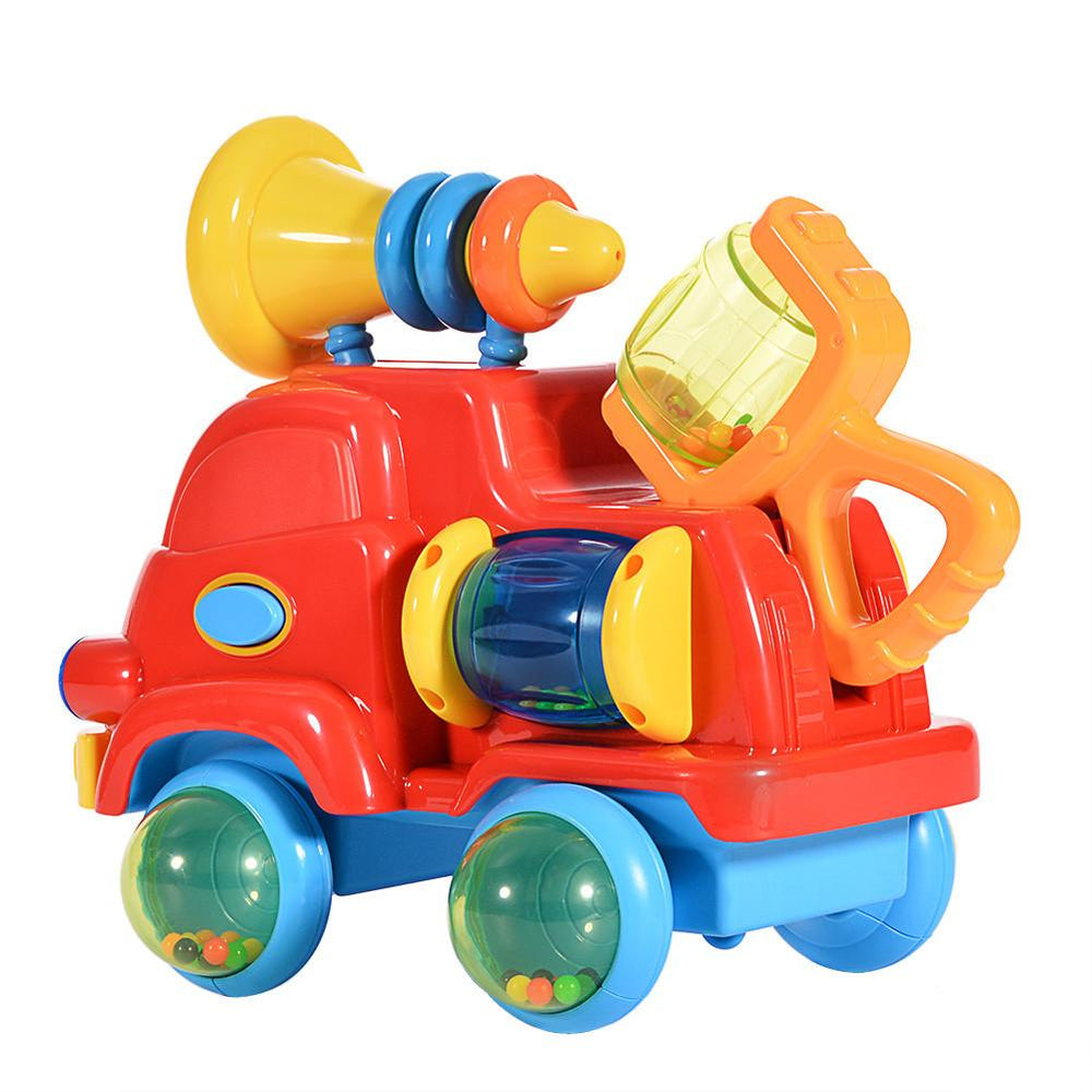 Puzzle Assembly Engineering Car Toy for Baby with Music and Light