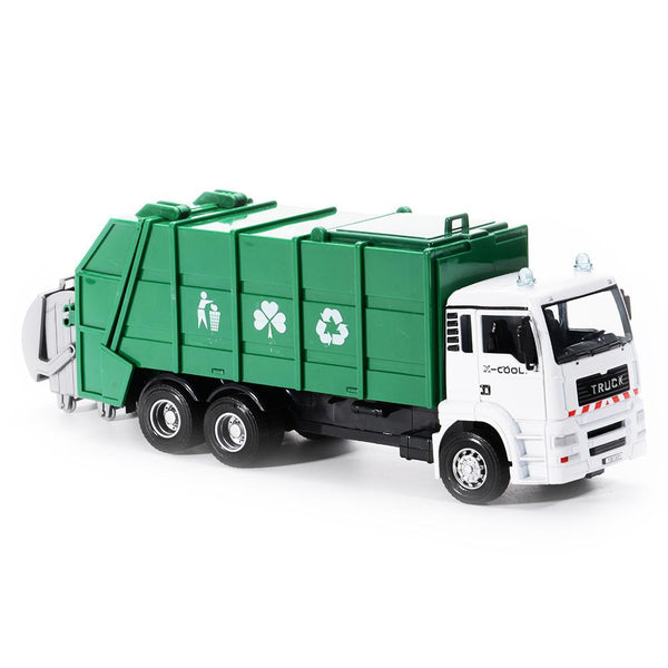 1PCS Diecast Metal Car Models Construction Trucks Vehicle Playset - Garbage Truck
