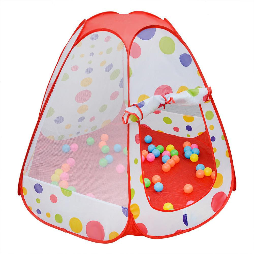 Children Polka Dot Play Tent Toy with 100 Colorful Balls