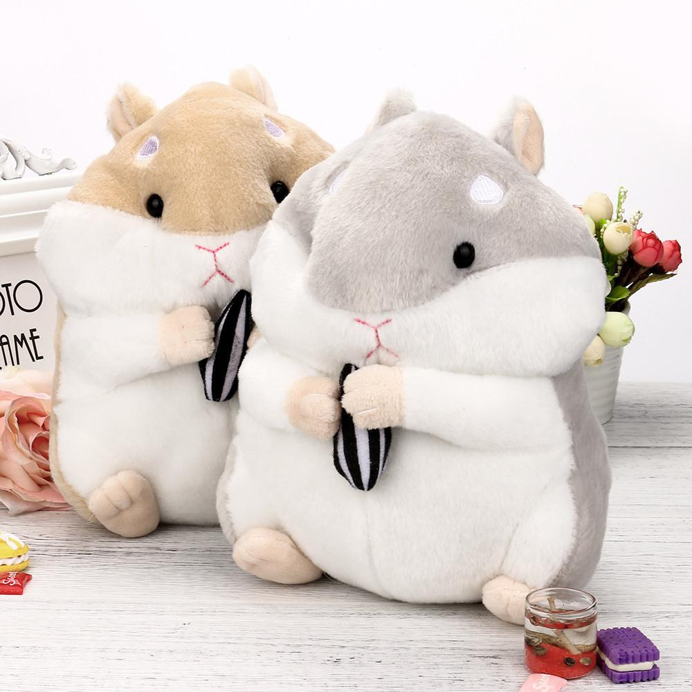 23CM Adorable Kawaii Fluffy Hamster Soft Plush Toy Doll Cute Stuffed Toy Gifts