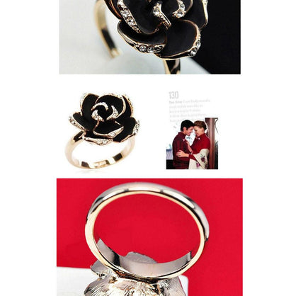 Women Jewelry Ladies Rose Flower Finger Opening ring