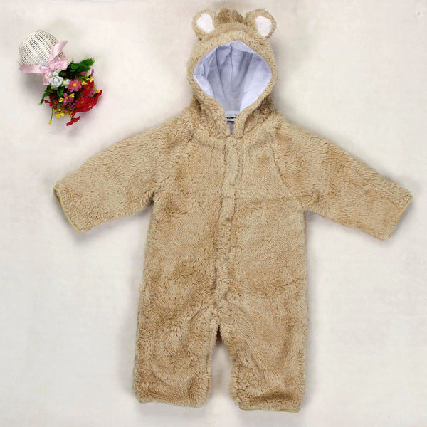 Newborn Baby Boys Girls Fleece Winter Rabbit Bear Romper Clothes Snowsuit