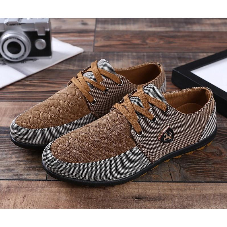 Men's shoes low to help fight breathable leisure canvas shoes