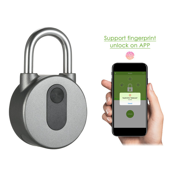 BT Smart Keyless Lock Waterproof APP Button / Fingerprint / Password Unlock Anti-Theft Padlock Door Luggage Case Locker Lock for Android iOS System