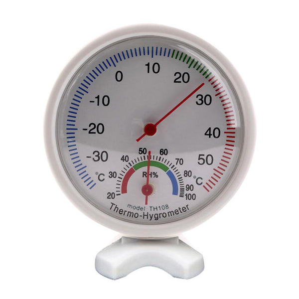 Round Indoor Analog Humidity Temperature Meter Gauge Thermometer Hygrometer