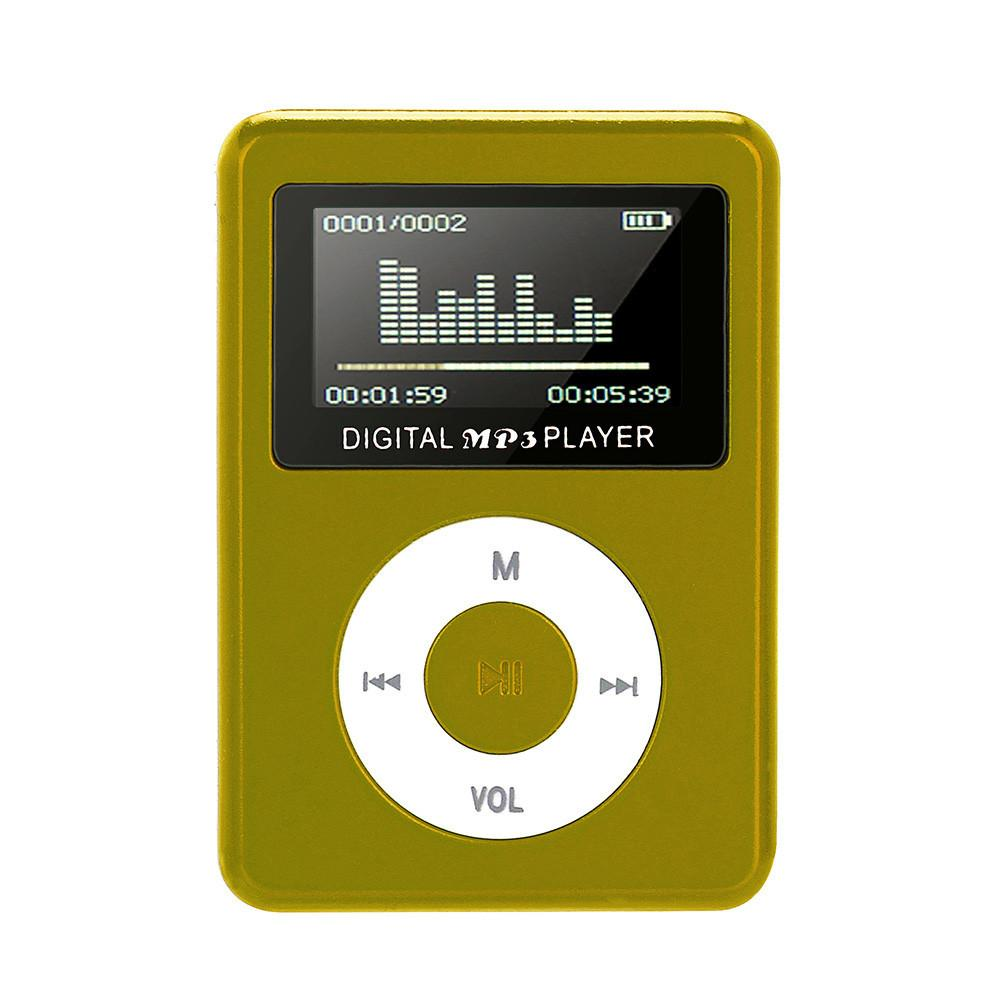 USB Mini MP3 Player LCD Screen Support 32GB Micro SD TF Card