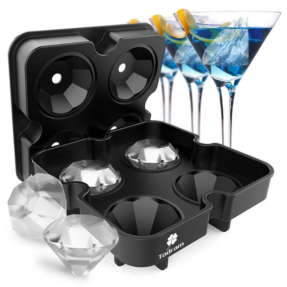 Diamond-Shaped Ice Cube Tray Silicone Easy Release