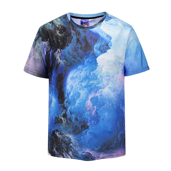 Cool T-shirt 3D T-shirt Print Cloud Short Sleeve Summer Tops Tees Tshirt Fashion Print Shirt