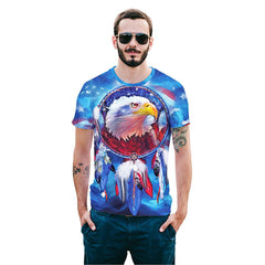 Cool T-shirt 3D T-shirt Print Eagle Short Sleeve Summer Tops Tees Tshirt Fashion Animal Print Shirt