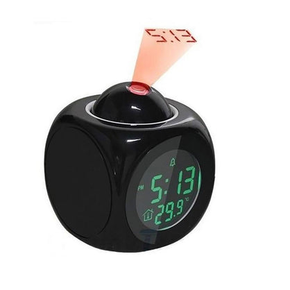Multifunctional Projection Alarm Clock with LED Voice Talking Function Digital Alarm Clock 12 /24 Hour With Snooze Hourly Chime