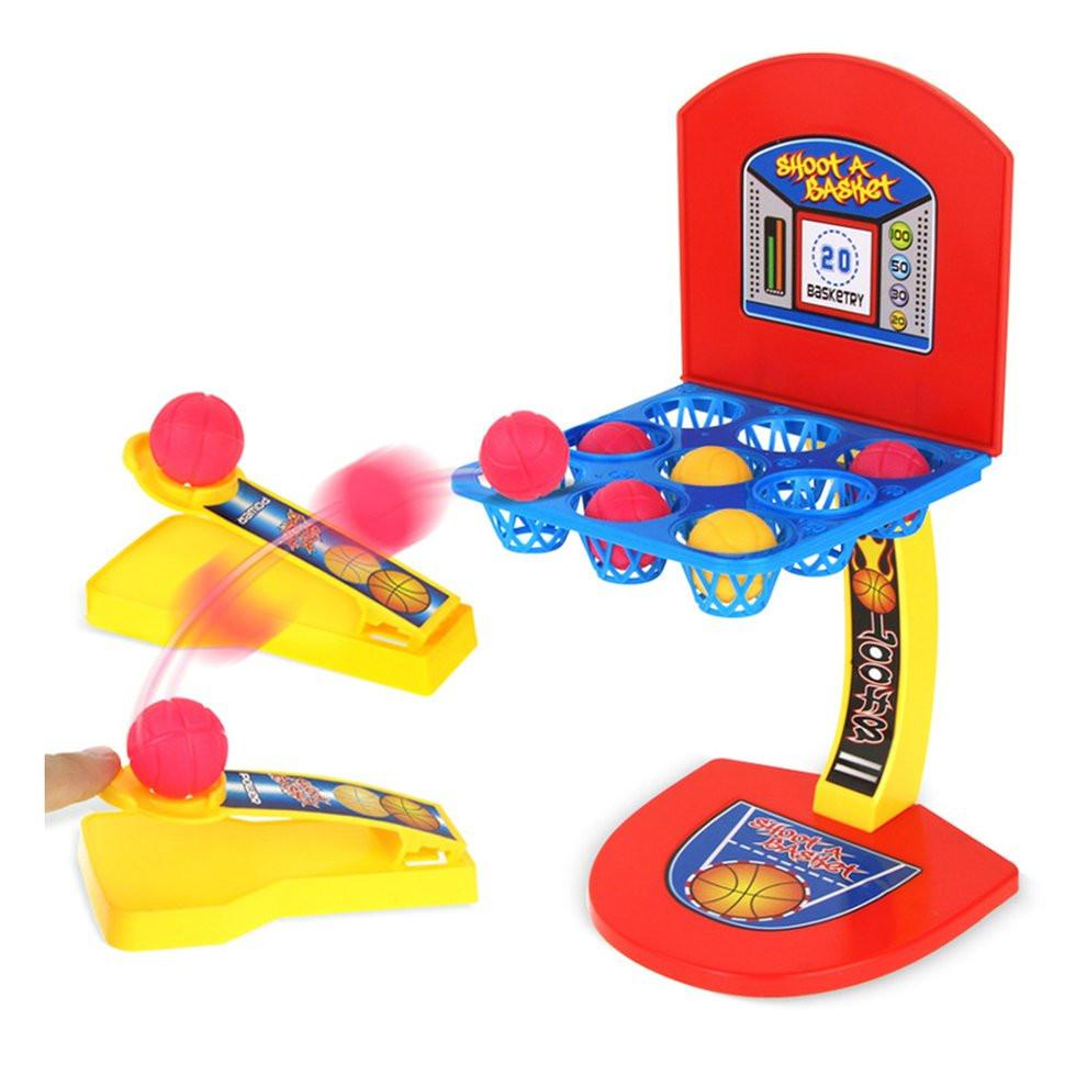 Creative Desktop Game Mini Basketball Shooting Game Educational Toys Multicolour Marbles Game Children Interactive Toys