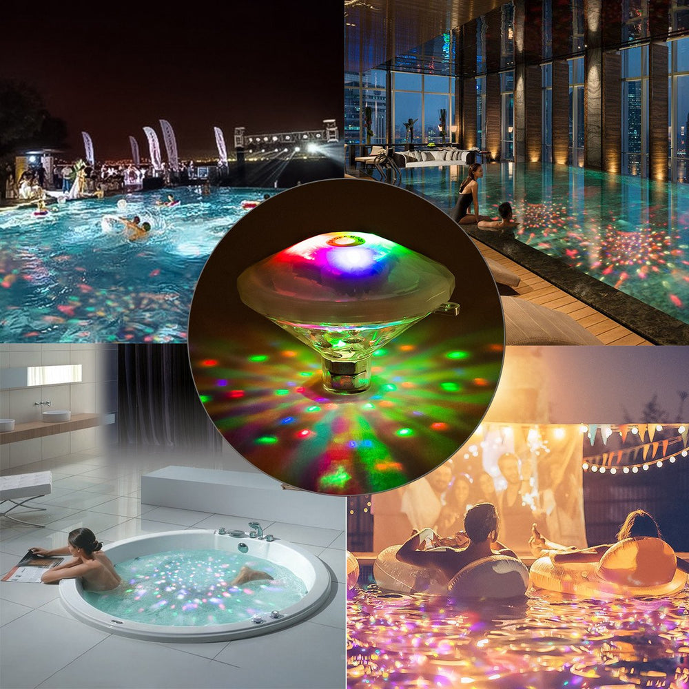 LED Pool Lights Floating Underwater Mood Lamp Water Light Show with 7 Different Light Modes for Illuminating Swimming Pools and Ponds