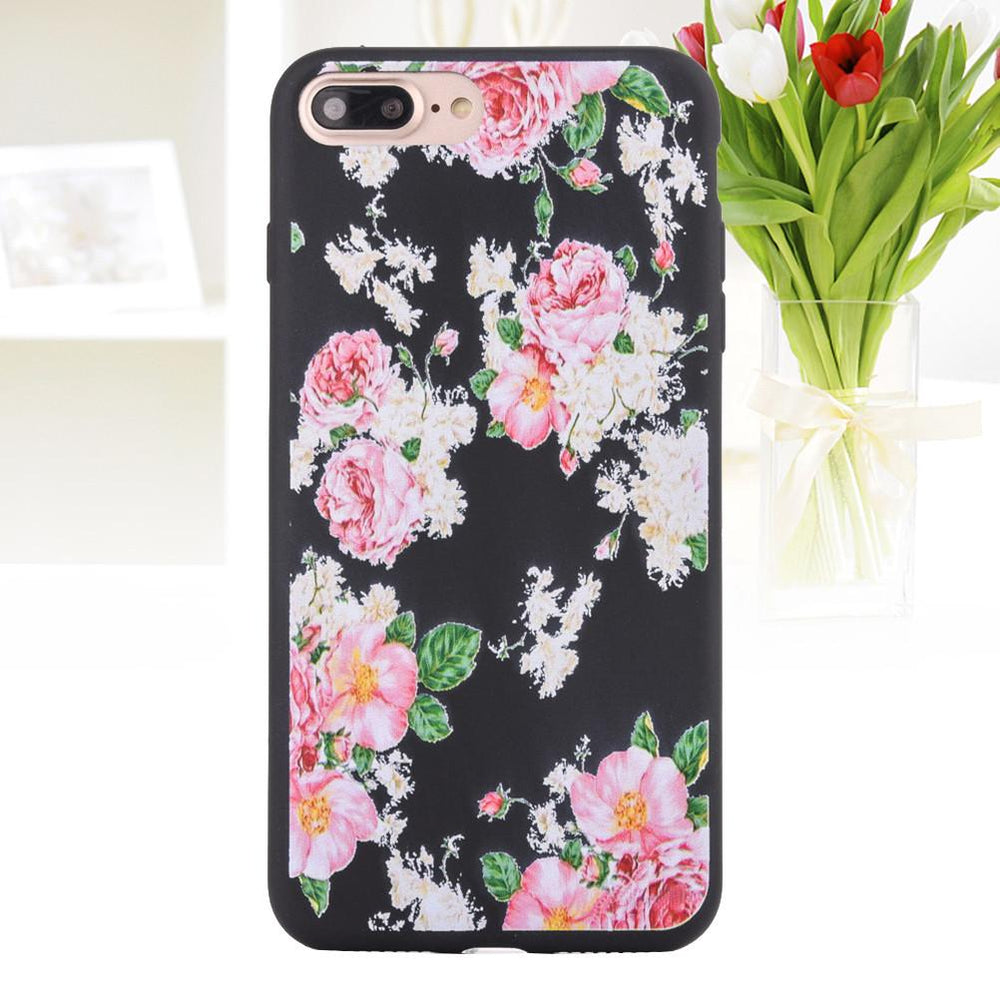 Fashion Common Peony Matte Soft Ultrathin TPU Case Phone Case Shell for iPhone 7 Plus