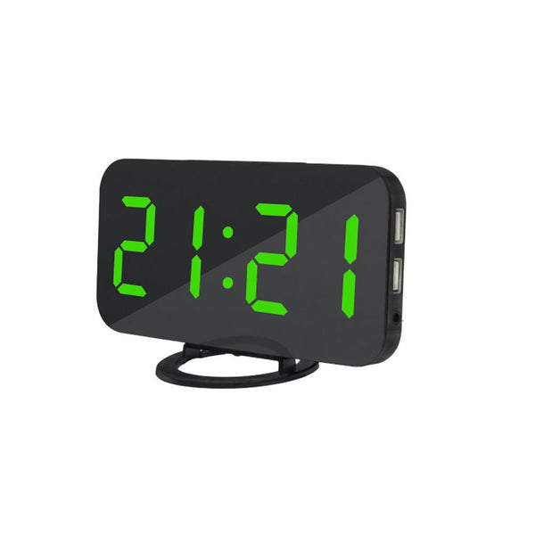 Digital Alarm Clock with Dual USB Charging Ports