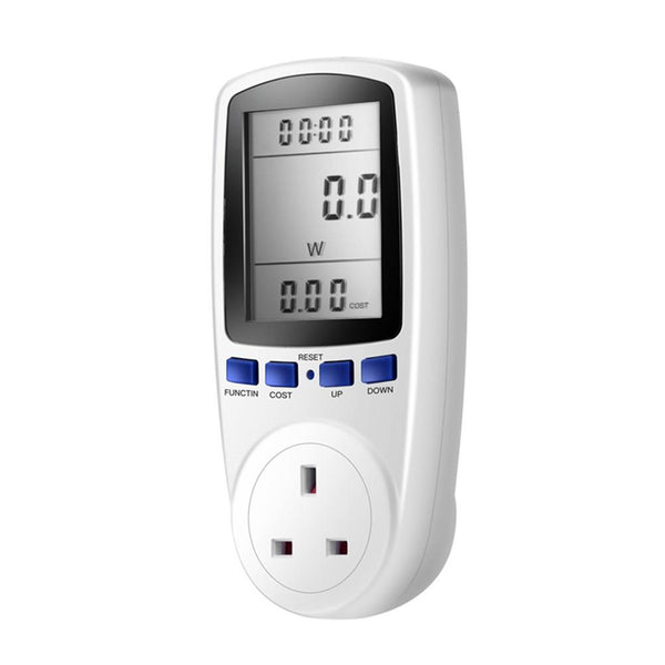 Power Consumption Meter Electricity Usage Monitor KWH Calculator with LCD Display with UK Plug