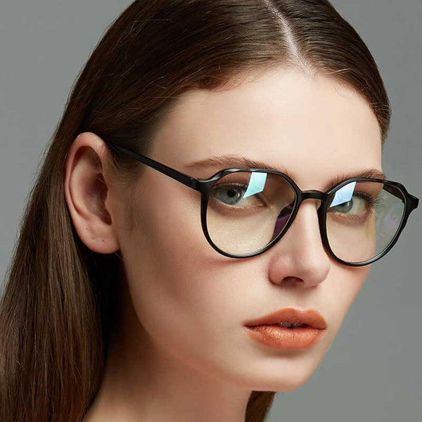 Retro Glasses Women Brand Designer Clear Lens Cat Eye Eyewear Fashion Transparent Eyeglasses Lady Plastic Plain Mirror Glasses