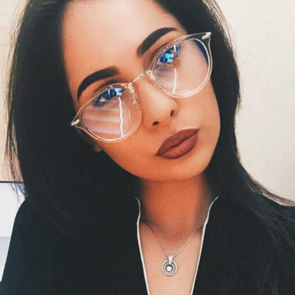 Clear Fashion Glasses Vintage Eyeglasse Women Transparent Eyewear Men Sexy Ladies Retro Metal Frame Glasses Unisex Sun glasses