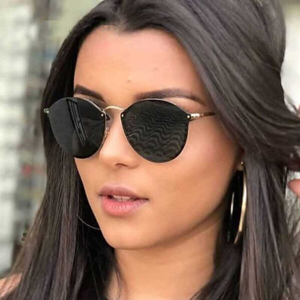 Rimless Sunglasses Women Brand Designer 2018 New Vintage Pilot Sun glasses Lady Metal Glasses Trendy Retro Coating Lens Eyewear