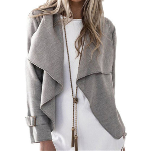 New Fashion Women Outwear  Autumn Winter Long Sleeve Casual  Cardigan (Size:S M L XL)