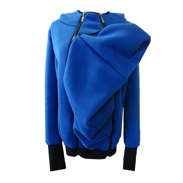 Kangaroo Style Zipper Removable Women's Thermal Sweater