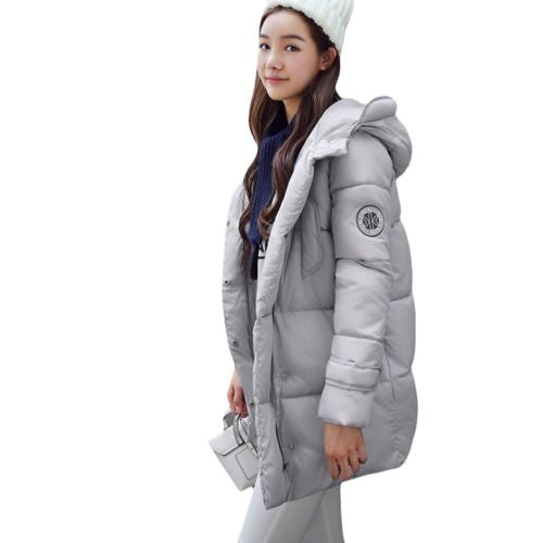 Down Jacket Cotton Thicken Slim Winter Clothes Long Coat